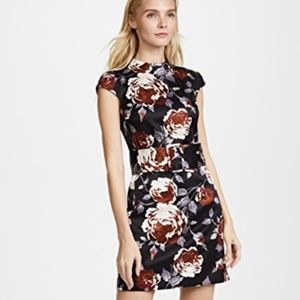Theory Belted Floral Dress